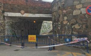 El paso inferior del ferrocarril permanecerá cortado por las obras hasta mañana a las 19 horas