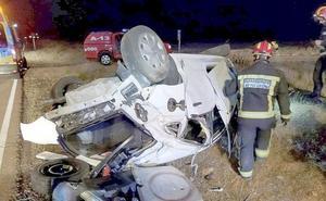 Herida una mujer tras una salida de vía en un accidente de tráfico en Cimanes del Tejar