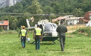 Greim y el helicóptero de la Guardia Civil rescatan a una mujer herida en Picos de Europa
