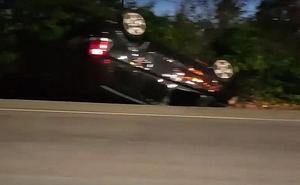 Siete personas heridas tras una salida de vía en la N-630 a la altura de La Copona