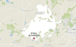 La Junta declara el nivel 1 en el incendio de Raso de Candeleda, en Ávila
