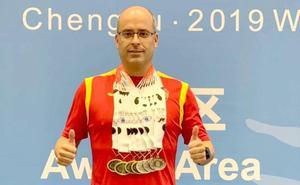 El policía nacional leonés Isaac Mao logra siete medallas en el Mundial de Policías y Bomberos