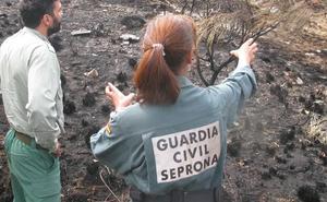 Investigadas dos personas por el incendio forestal ocurrido en los montes de Paradilla de Gordón