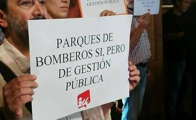 IU León reafirma su defensa de la gestión 100% pública de los parques provinciales de bomberos