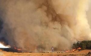 El humo por el fuego en Cubillas de Rueda llega a León capital