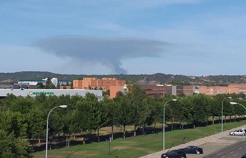 Fuego en Villapadierna