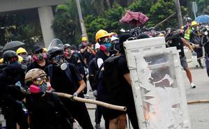 La tensión vuelve a las calles de Hong Kong en una nueva jornada de protestas