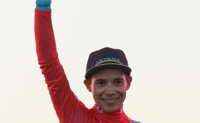 'Superman' López, primer líder de la Vuelta tras el triunfo de etapa de Astana