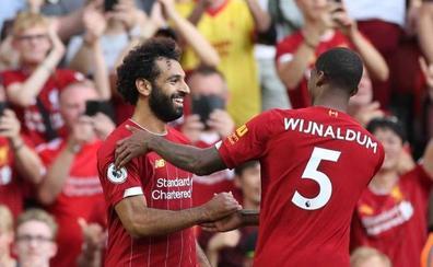 Salah pone al Liverpool en el trono de la clasificación