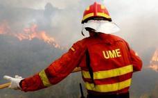 La UME cuadriplica sus intervenciones contra los incendios forestales este año