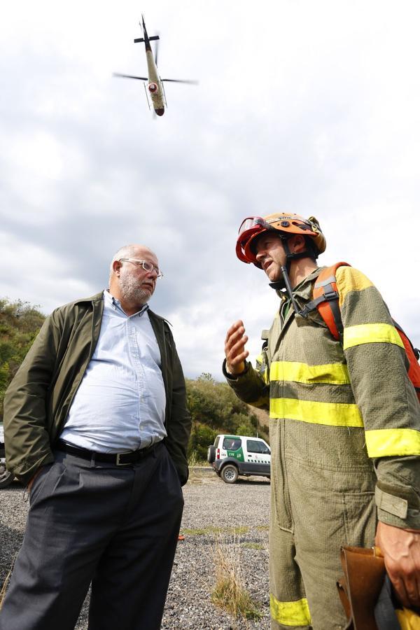 Incendio en la localidad leonesa de Horcadas