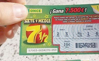 El Rasca de las Siete y Media de la ONCE ha repartido 7.500 euros en la localidad de La Robla