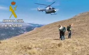 La Guardia Civil rescata a un ciclista herido tras una caída en el Pico Fontañán de Pola de Gordón
