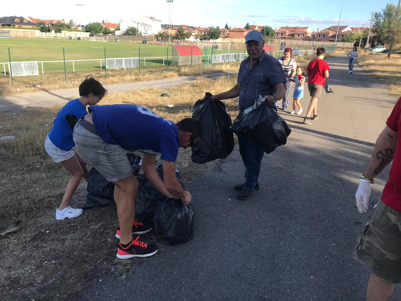 Recogida de basura en San Andrés del Rabanedo
