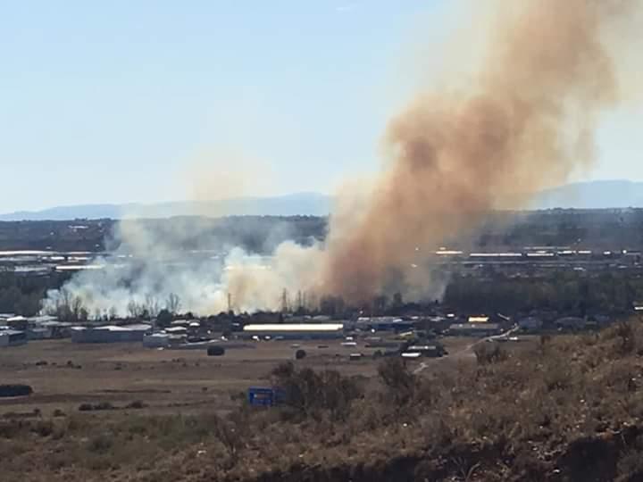 Fuego en Santa Olaja