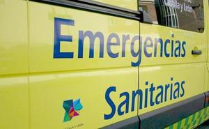 Una mujer resulta herida en el vuelco de un turismo en la avenida de Portugal de Ponferrada