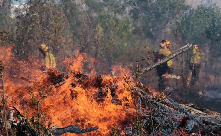 Incendio en Santa Olaja