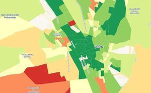 El mapa de la renta de los leoneses, calle a calle