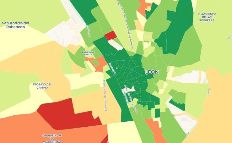 La renta media por persona en León