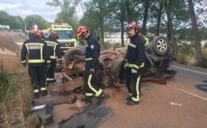Fallece un hombre de 32 años tras un espectacular accidente de tráfico en Ferral del Bernesga