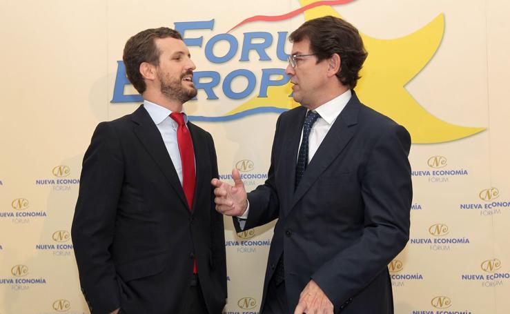 Mañueco, en el Fórum Europa