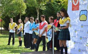 Ceremonia en Peñacorada de incorporación a las 'Casas' de 72 nuevos alumnos