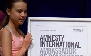 Greta Thunberg, premio 'Embajadores de la Conciencia' de Amnistía Internacional