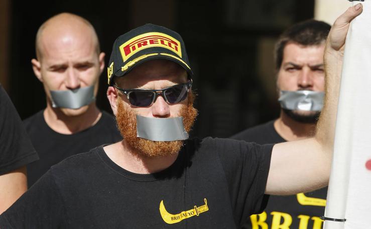 Protesta de los Brif tras la sanción al compañero Pablo
