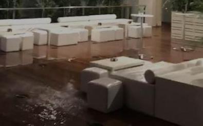 El agua causa destrozos en las Cortes y en el Centro Cultural Miguel Delibes