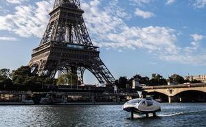 'Volar' sobre las aguas del Sena