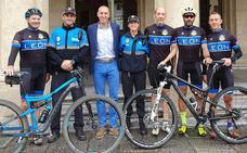 Diez da «fuerzas» al grupo de agentes que participa en el Campeonato de España de bicicleta de montaña para Policías Locales