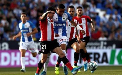 El Leganés evita el pánico en Butarque con un empate ante el Athletic