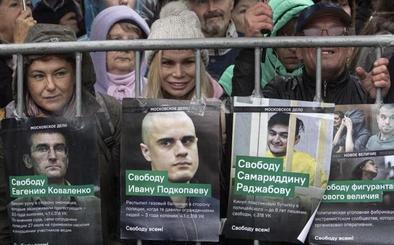 Más de 24.000 personas se manifiestan en Moscú por la liberación de los presos políticos