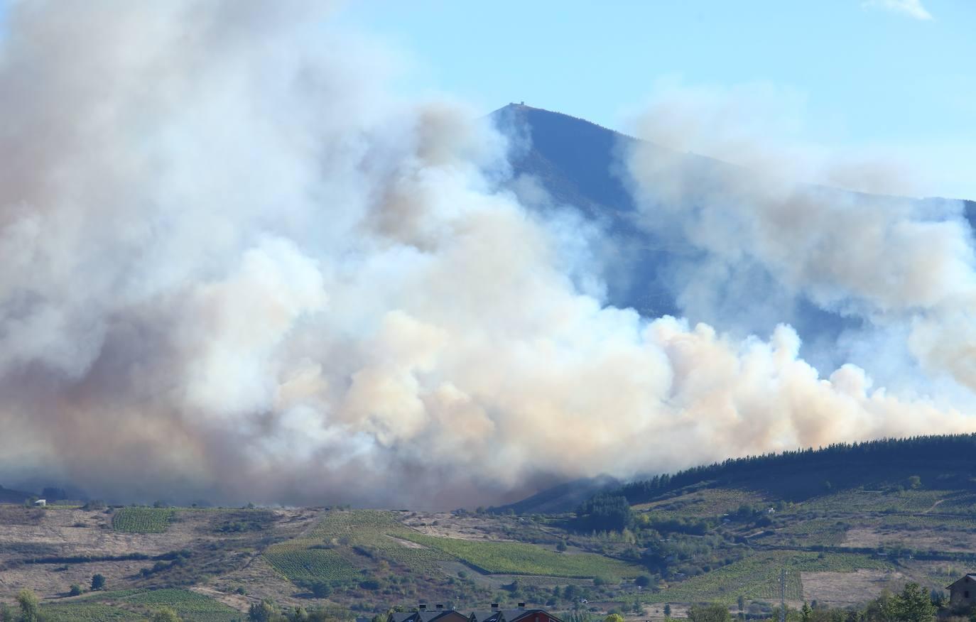 Incendio forestal en Valdecañada