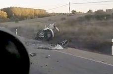 Un brutal accidente en La Bañeza se salda con un joven de 20 años fallecido