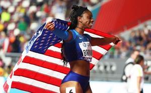 Brittany Brown, pluriempleada para salvar el orgullo de la velocidad yanqui