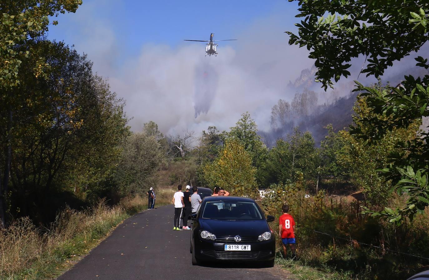 Fuego en El Bierzo