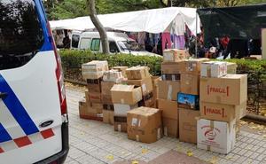 La Policía Local de León se incauta de miles de piezas de bisutería presuntamente falsificadas
