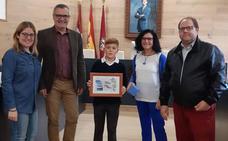 David González, premiado en el XVII Concurso Digital de Dibujo Infantil organizado por Aqualia