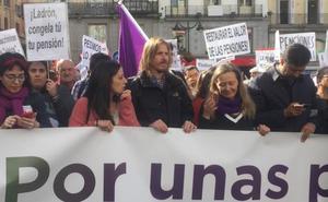 Pablo Fernández reivindica en Madrid el blindaje de las pensiones «por ley»