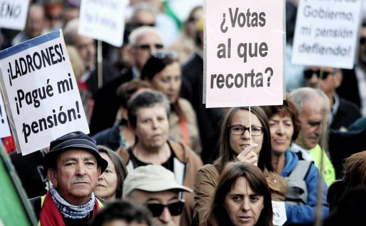 La manifestación de los pensionistas, en imágenes