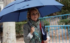 Esperanza Aguirre, tras declarar ante el juez: «Mi inocencia prevalecerá»