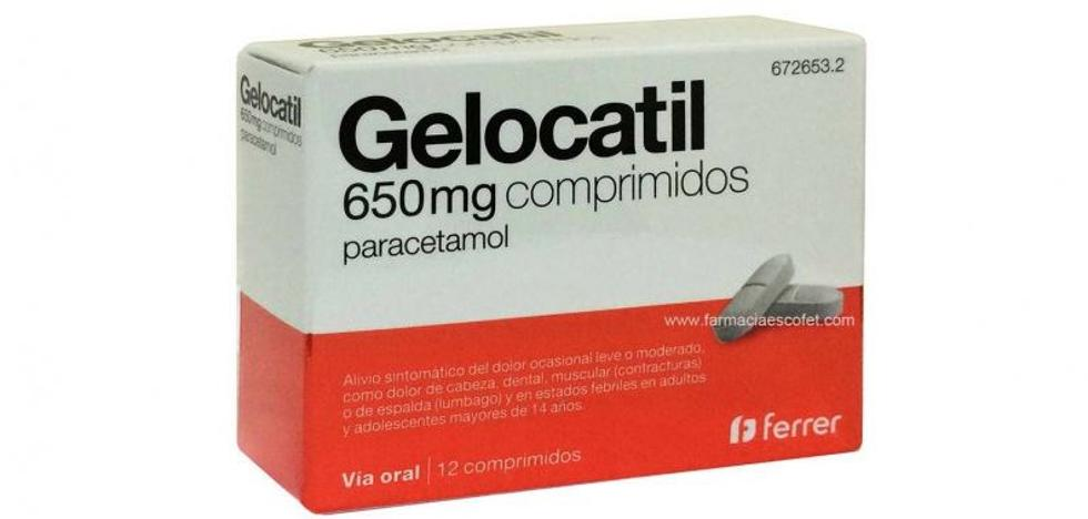 Sanidad retira un lote de 'Gelocatil' 1 gramo por estar etiquetado como si fuera 650 miligramos