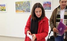 Ana Marcello (Unidas Podemos) vota en Villarrodrigo de las Regueras