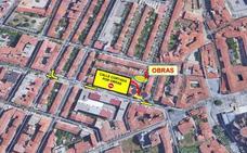 Las obras en la calle San Pablo de León provocan el corte del tráfico este martes en José María Fernández y Cantarranas