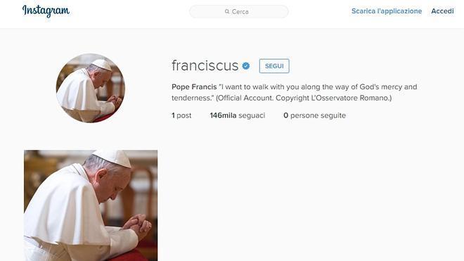 El Papa aterriza en Instagram