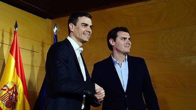 Sánchez y Rivera se reafirman en su acuerdo en vísperas de la cita con Iglesias