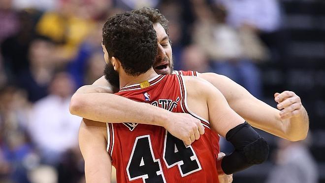 Gasol y Mirotic acaban con la mala racha de los Bulls