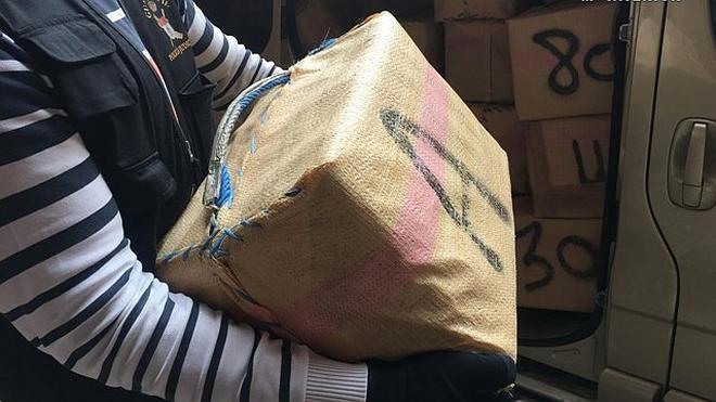 Incautados más de 1.600 kilos de hachís a una organización que abastecía el norte de España