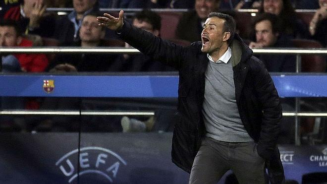 Luis Enrique: «Todos los del Barça hemos visto que eran dos amarillas sin ninguna duda»